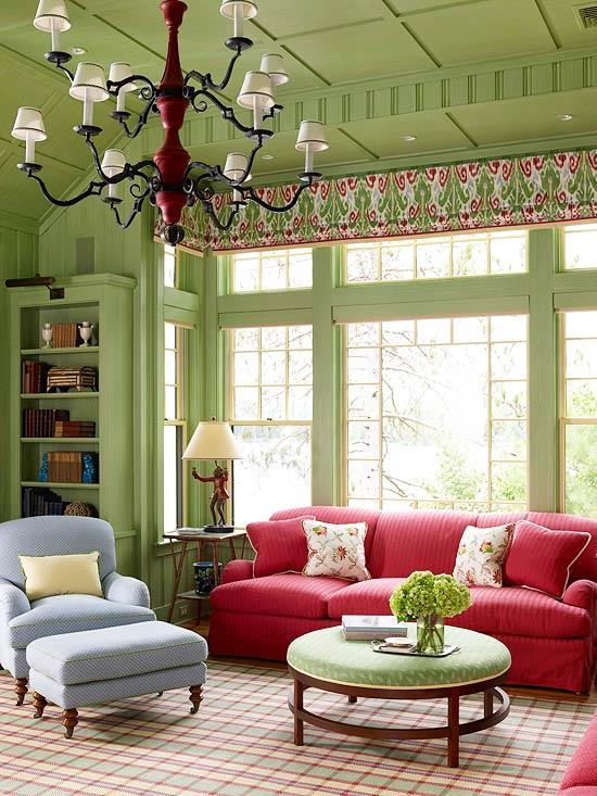 15 Green living room design ideas - green living rooms