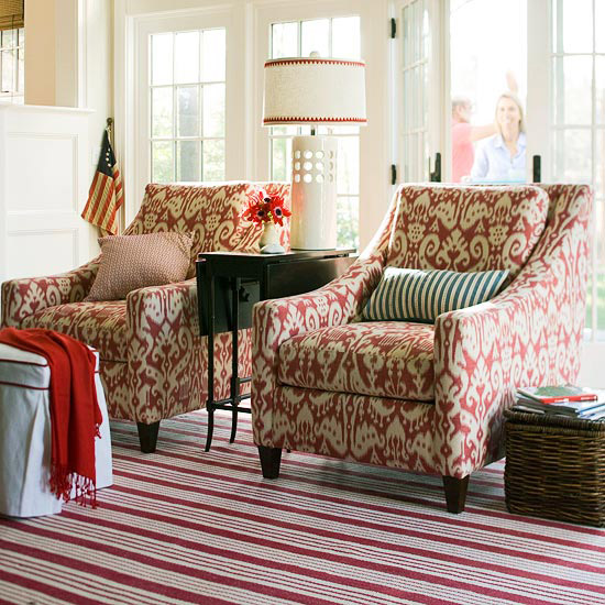 15 Red living room design ideas - red and brown living room