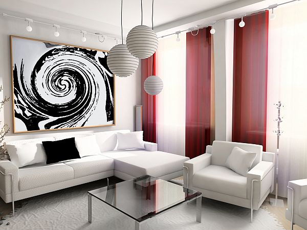 15 Red living room design ideas - black and red living room ideas