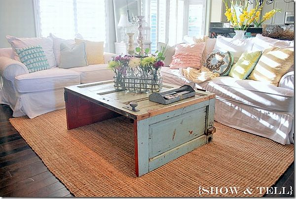 The Art Of Recycling Old Doors Into Stylish Tables