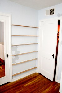 DIY forward facing bookshelves for the childrens room