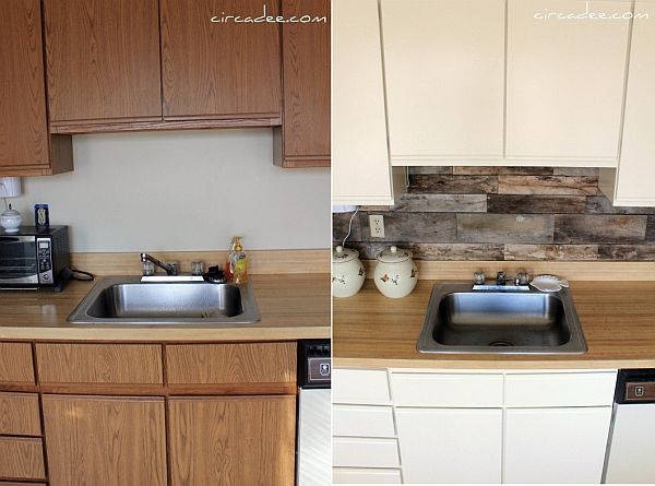 diy rustic kitchen backsplash ideas