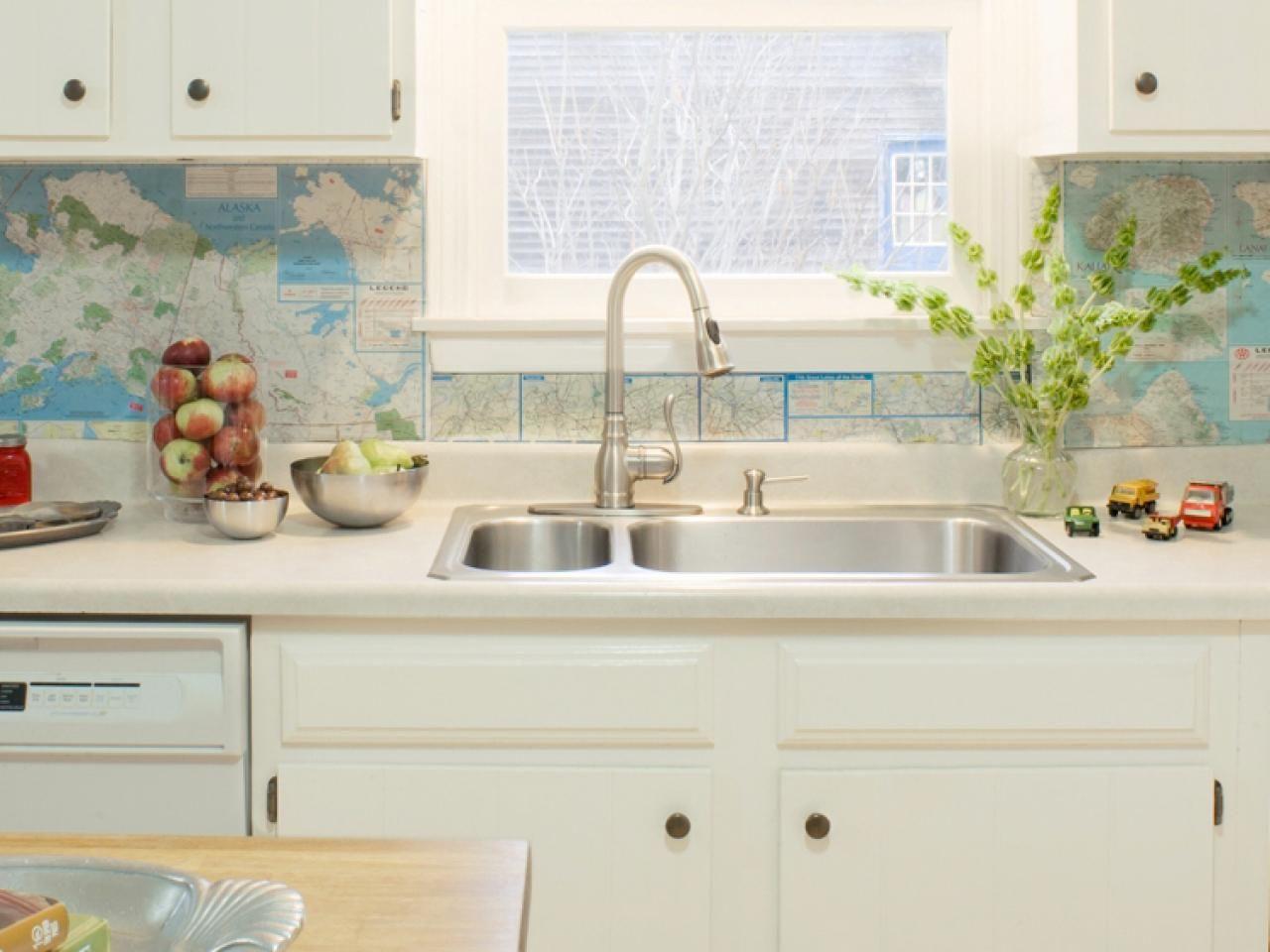 top 10 diy kitchen backsplash ideas backsplash kitchen World map backsplash