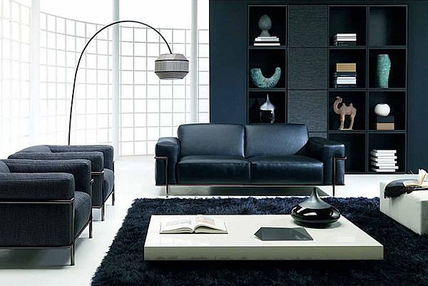 How to decorate a living room using black furniture - black furniture living room