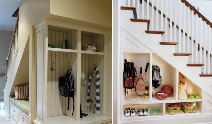 Easy Under Stairs Storage Ideas