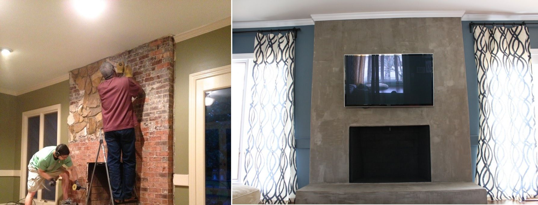 Brick Fireplace Makeover Exploring The Beauty Of Concrete Walls In Interior Design