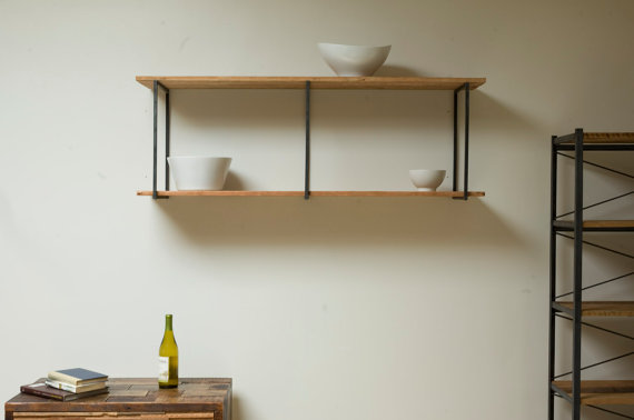 Beautiful Floating Shelves Made Of Reclaimed Wood