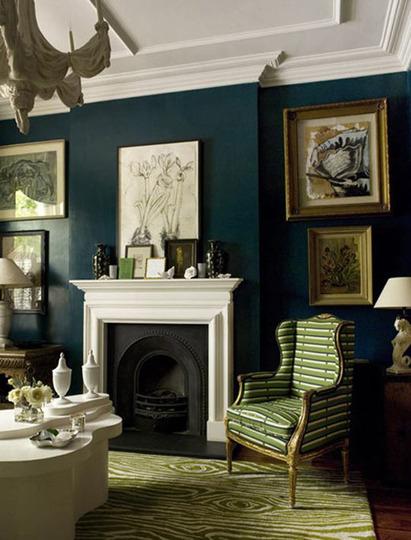 Decorating A Hunter Green Living Room - green living rooms