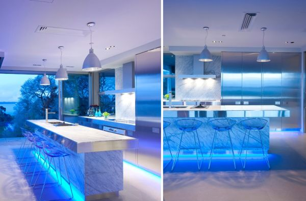 Recessed Lighting For Kitchen Island Using Led Lighting In Interior Home Designs