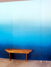 Ombre wall DIY projects, ideas and suggestions