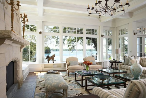 How to decorate a living room with large windows - living room windows