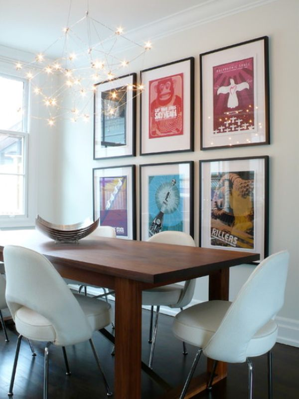 How to decorate using posters - framed wall art for living room