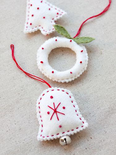 10 DIY felt Christmas Ornaments - felt christmas decorations