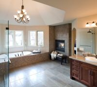 Bathroom fireplaces  a luxurious and welcomed accent feature