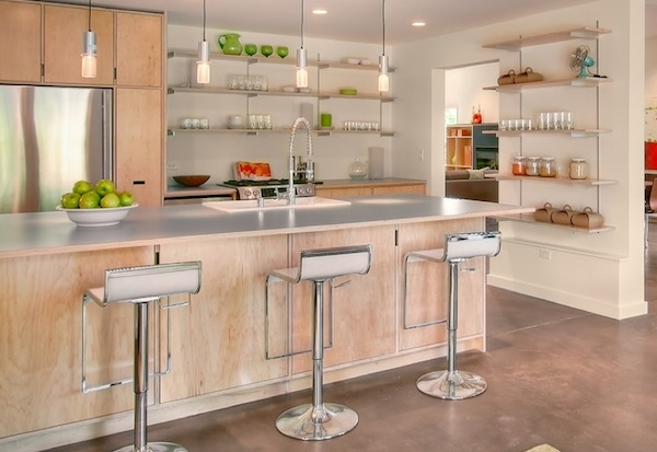 Beautiful And Functional Storage With Kitchen Open