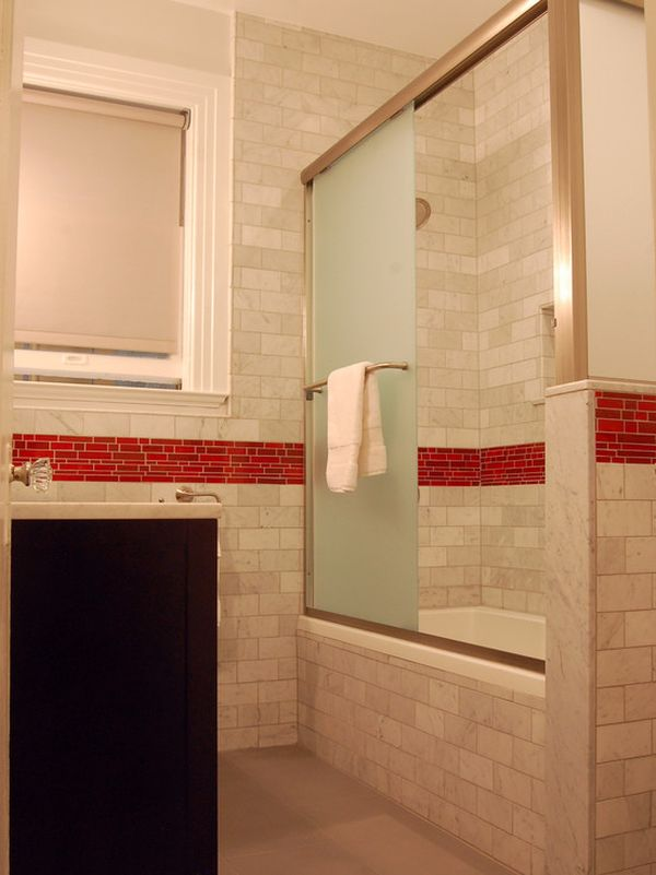 Red Black And Cream Wallpaper When To Incorporate Red In A Bathroom