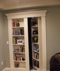 hidden bookcase door story  Roselawnlutheran