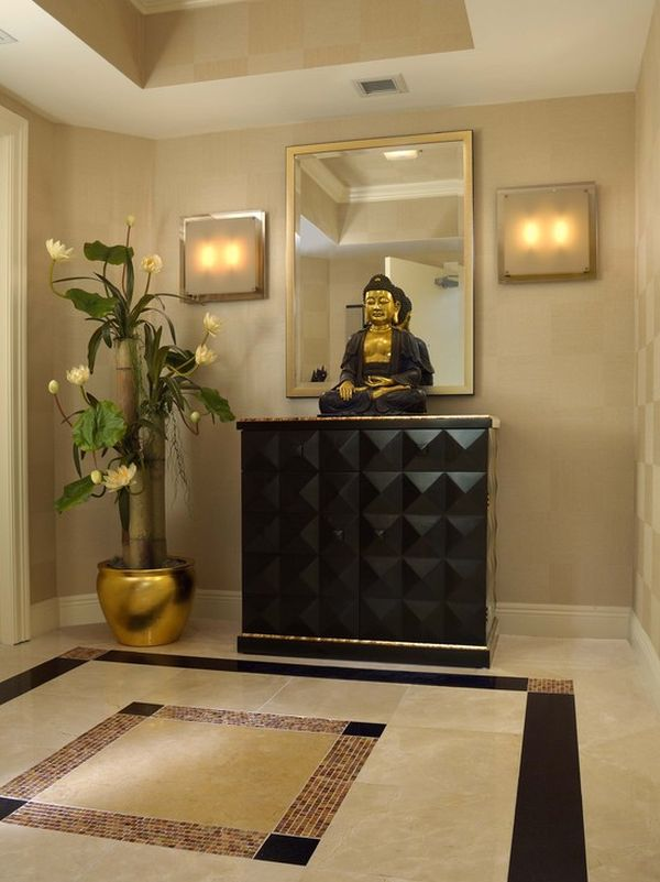 Decorate with Buddha statues and representations - living room statues