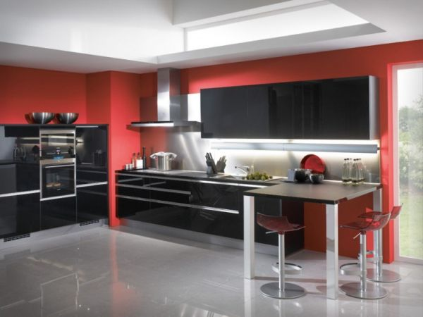 Red And Black Kitchen 55 Modern Kitchen Design Ideas That Will Make Dining A Delight