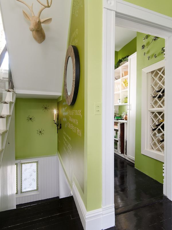 Carrelage Vert Anis How To Use Green Successfully In A Hallway