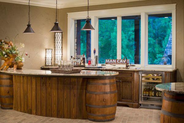19 Interesting Ways Of Using Wine Barrels In Home Decor