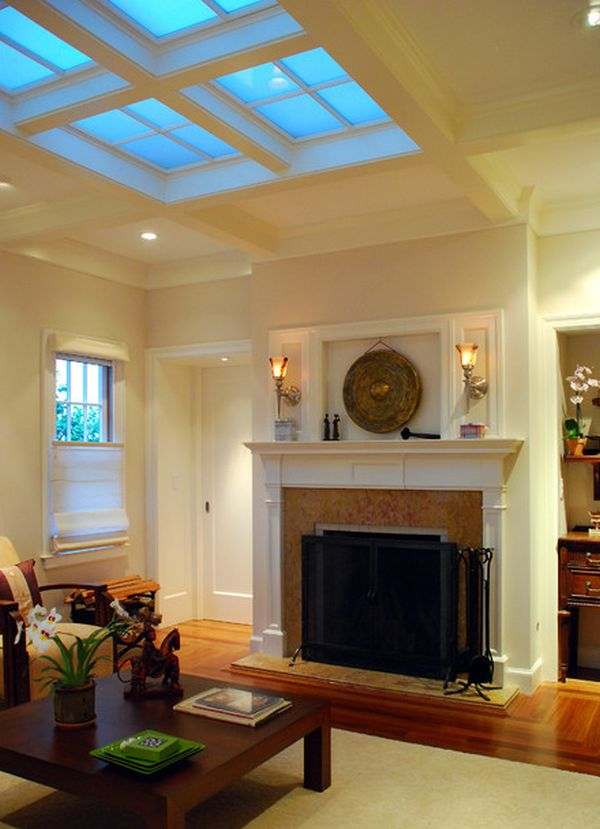 Contemporary Living Room Designs Uplifting Skylight Designs To Get The Light Flowing
