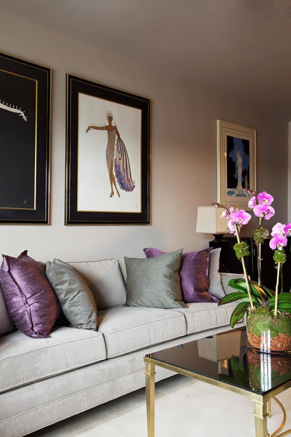 How To Use Purple In Stunning Looking Living Rooms - purple living room decor