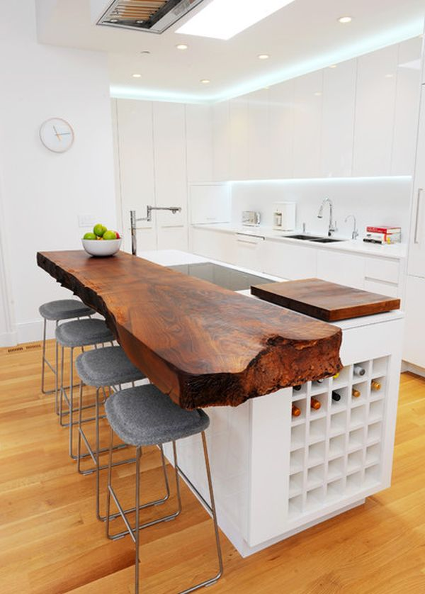 stylish wood furniture features natural edge home kitchen designs luxurious traditional kitchen ideas
