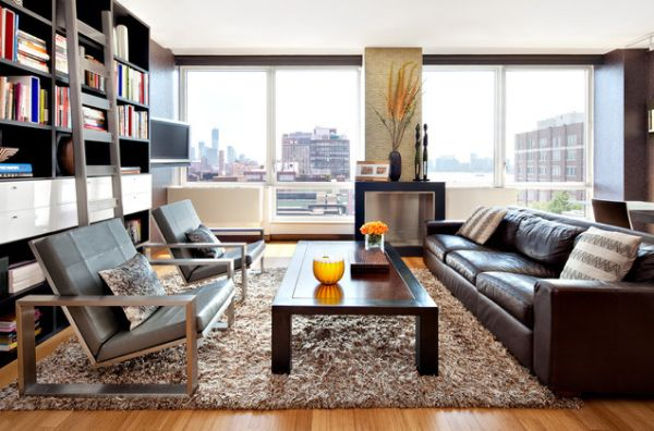 Shag Rugs Regain Popularity With Their Soft And Friendly Texture - living room rugs modern