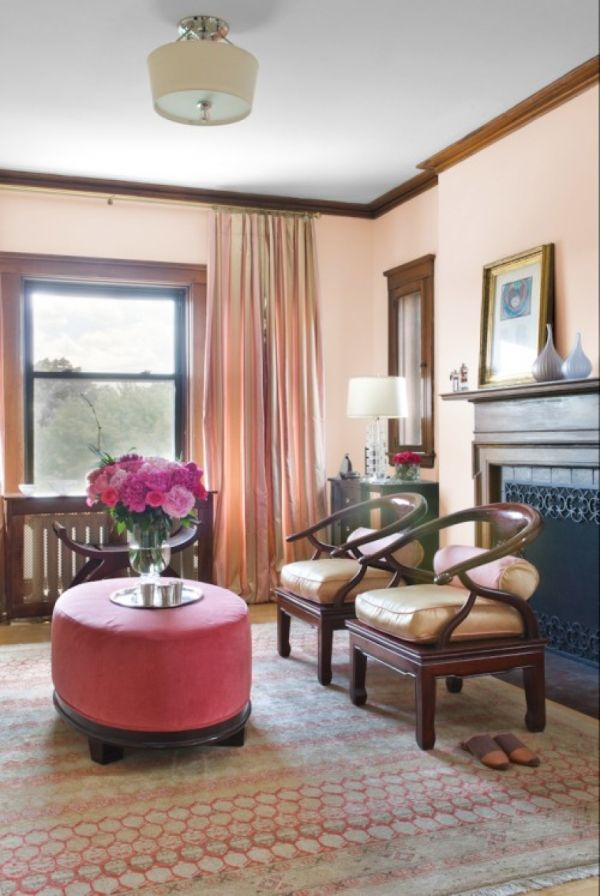 Peach and Coral Accents Ideas and Inspiration - peach living room
