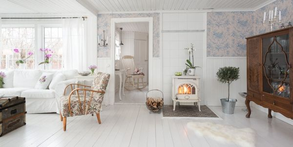 Ikea Decoracion De Interiores Romantic Cottage Interior Achieved With Simple Colors And