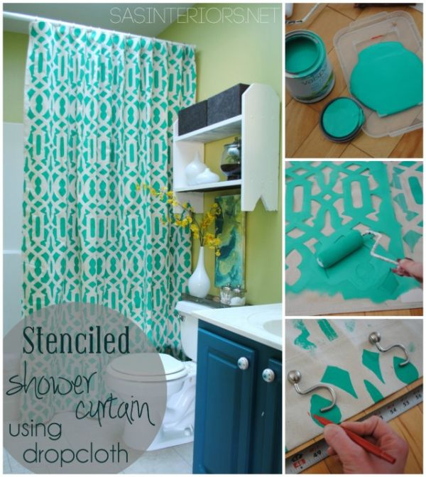 How To Change The Décor Of Your Bathroom With A Simple DIY Shower - bathroom decorating ideas diy
