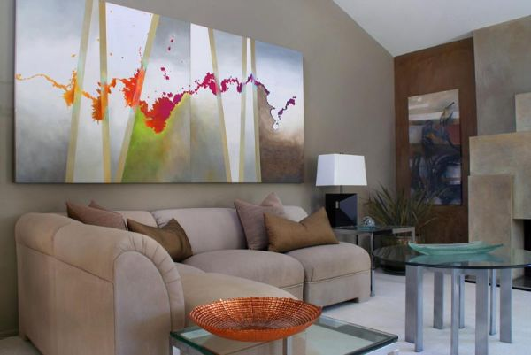 How To Use Abstract Wall Art In Your Home Without Making It Look - art for living room