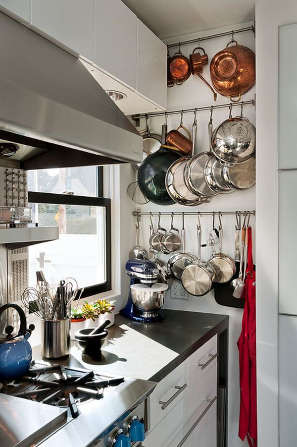 Functional Kitchen Island Designs Hangin' Up The Pots: Fun And Functional Ways