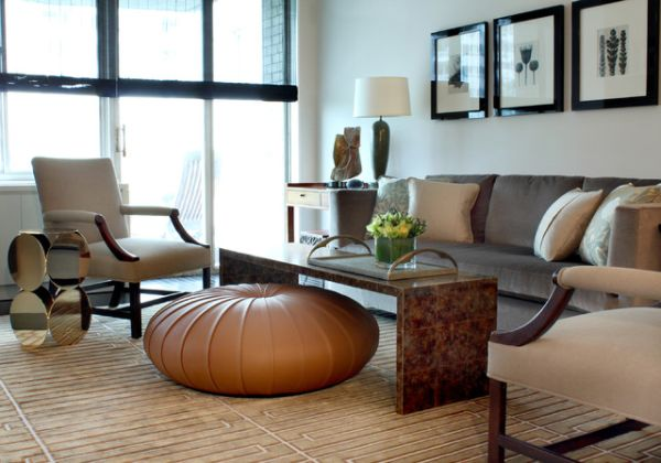 Beautiful Shapely Ottomans That Jazz up the Living Room - living room ottoman