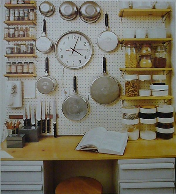 install pegboard wall organizer hang pots pans pots special place kitchen diy kitchen