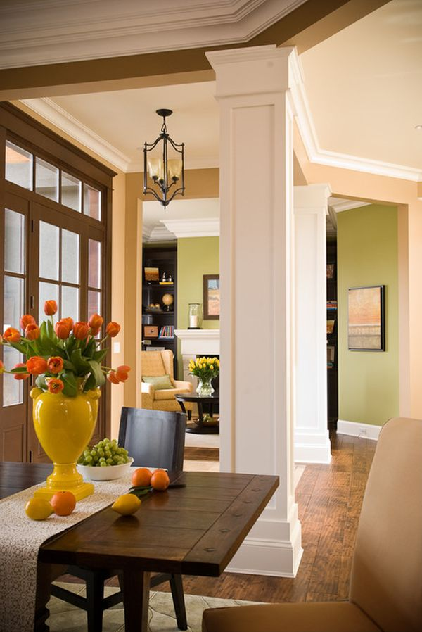 Rope Lighting With Crown Molding Columns: Inside And Outside The House