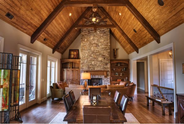 Wooden Beams And Stone The Perfect Combination For A