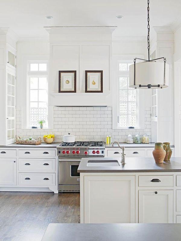chic white kitchens white cabinets grey backsplash kitchen subway tile outlet