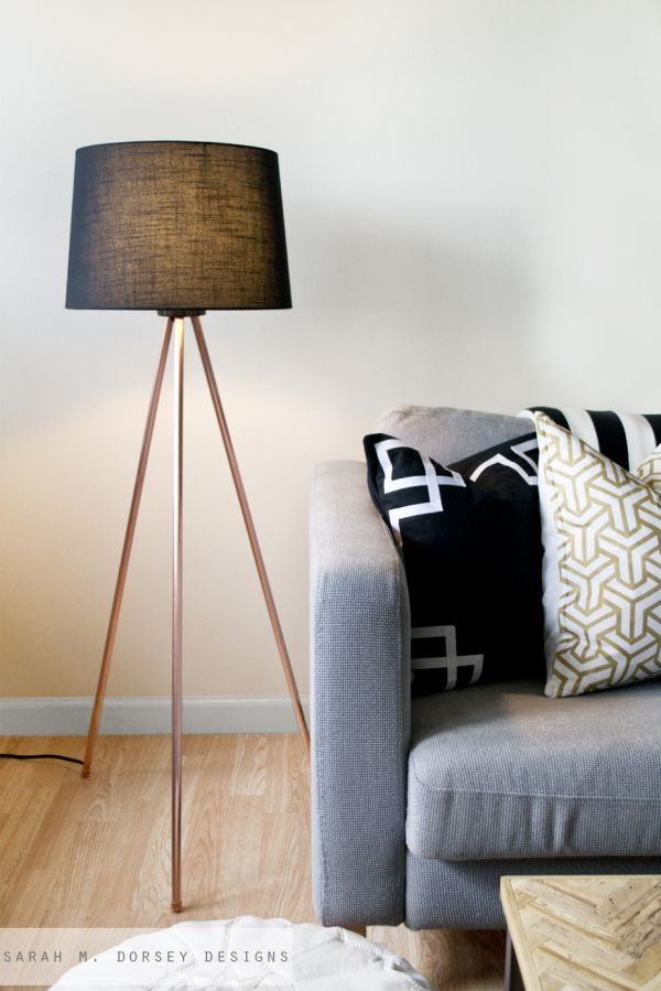Tripod Stehlampe Diy Floor Lamps – 15 Simple Ideas That Will Brighten Your Home