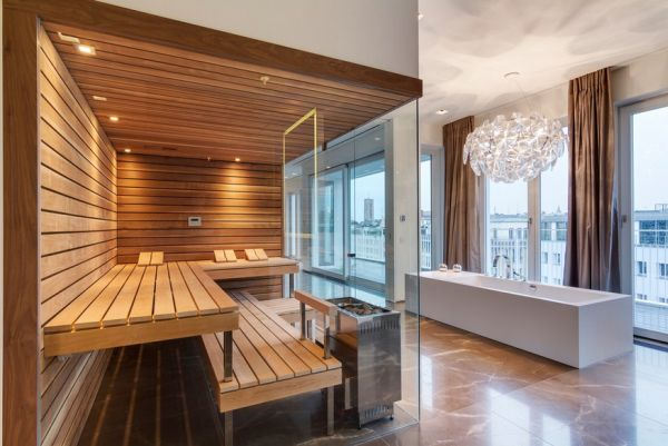 Moderne Sauna 17 Sauna And Steam Shower Designs To Improve Your Home And