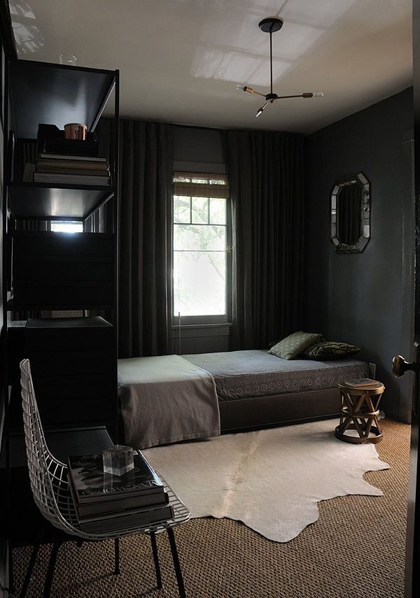 Dark \ Moody Walls for a Cozy Bedroom - dark bedroom ideas