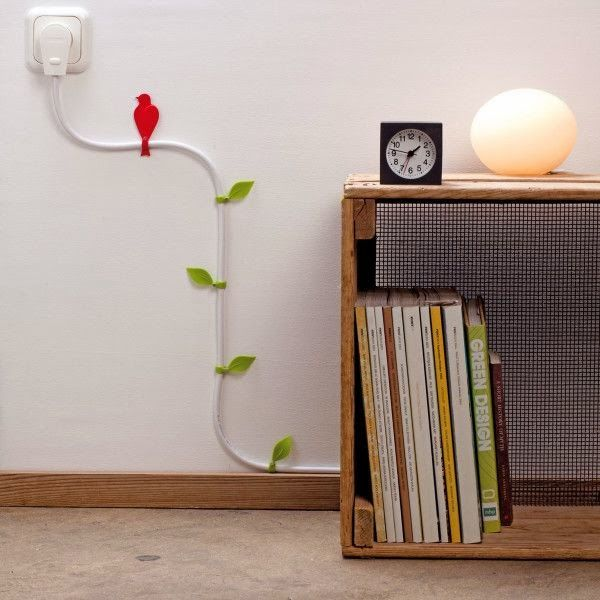 Why Hide Your Cables And Cords When You Can Turn Them Into Beautiful