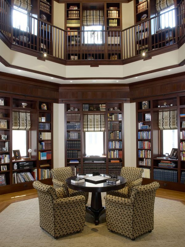 62 Home Library Design Ideas With Stunning Visual Effect - home library design