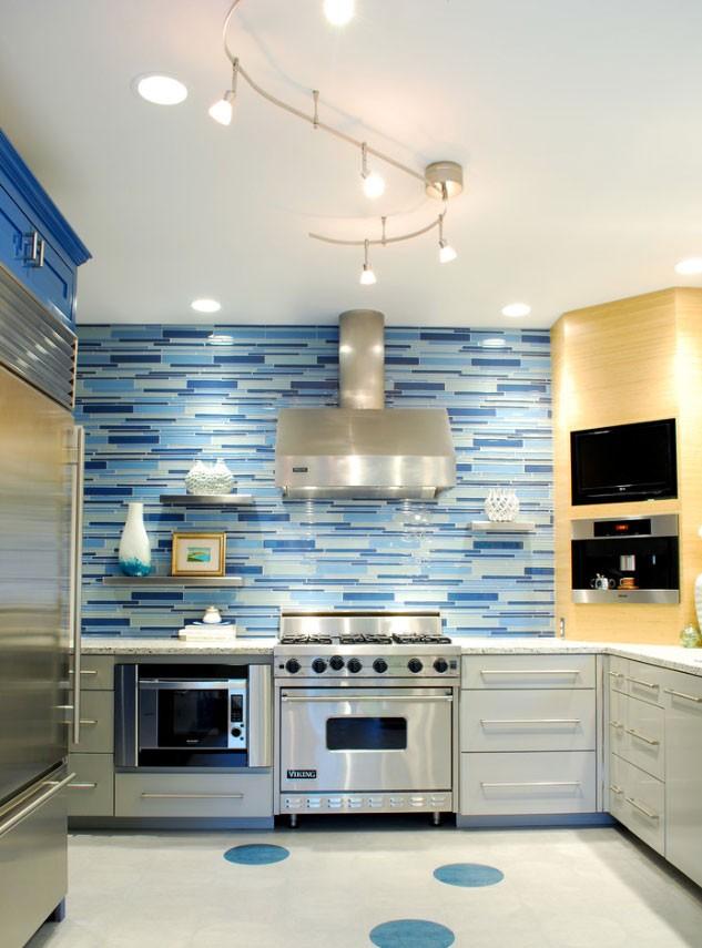 blue kitchen blue shade tiles light blue subway tile backsplash backsplash