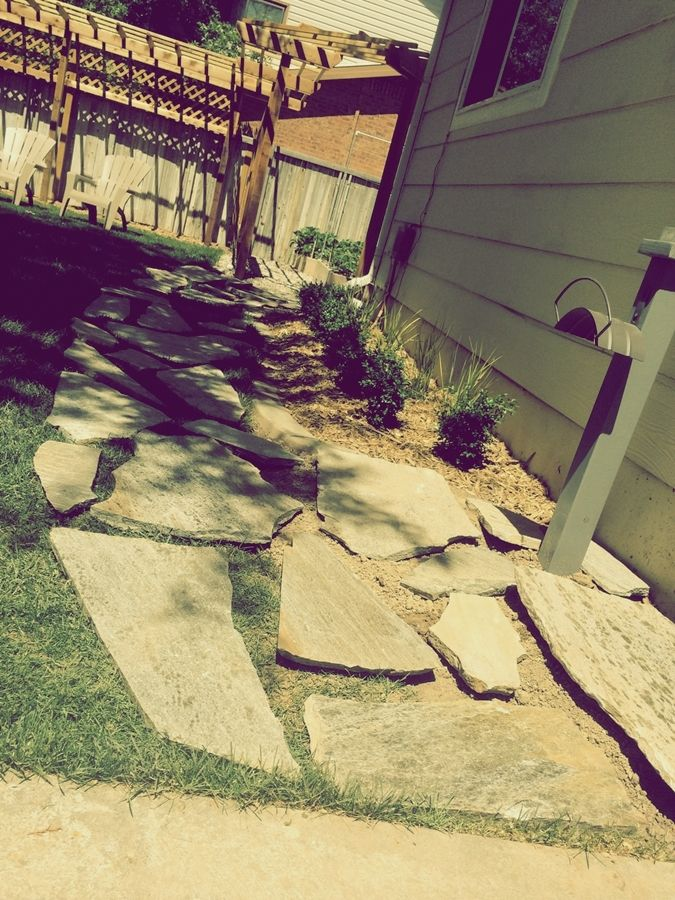 Flagstone Patio How To Lay A Flagstone Pathway In An Existing Lawn