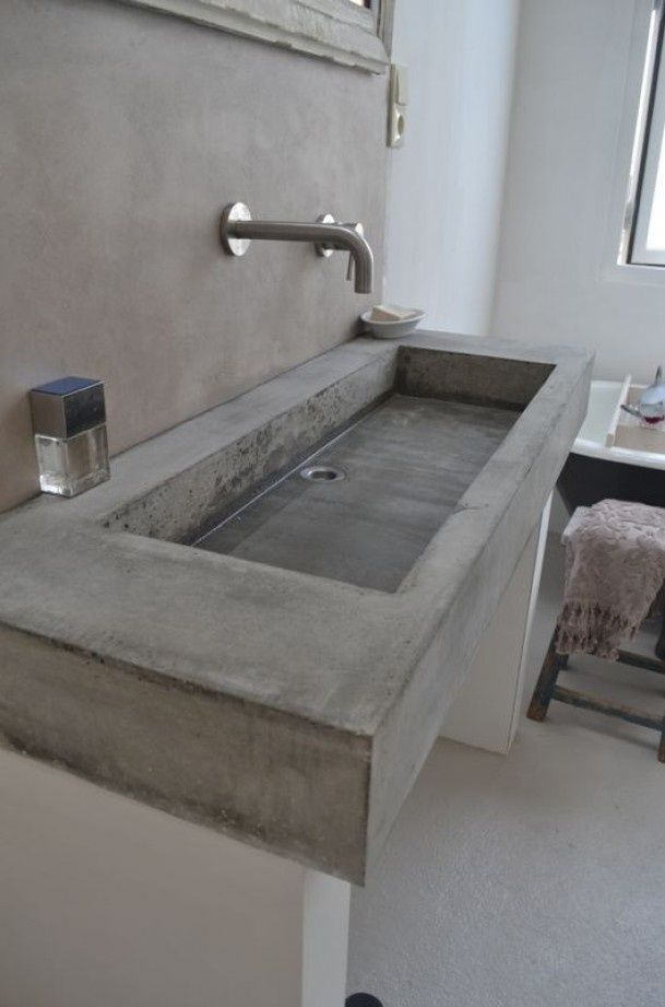 Wasbak Badkamer Wit Concrete Bathroom Sinks That Make A Strong Statement