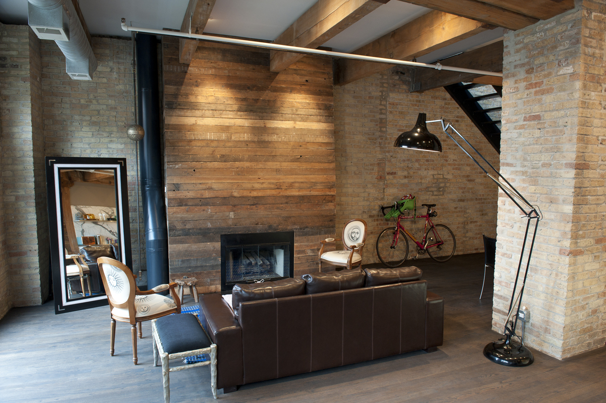Cover Brick Fireplace With Wood Panels 10 Unexpected Uses For Reclaimed Wood Around The House