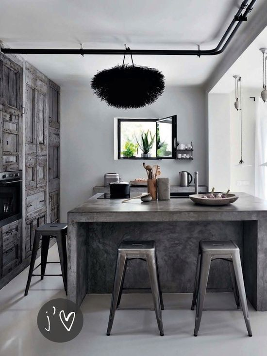 Rustic White Kitchen Island Go Beyond The Common Aesthetics With Concrete Kitchen Islands