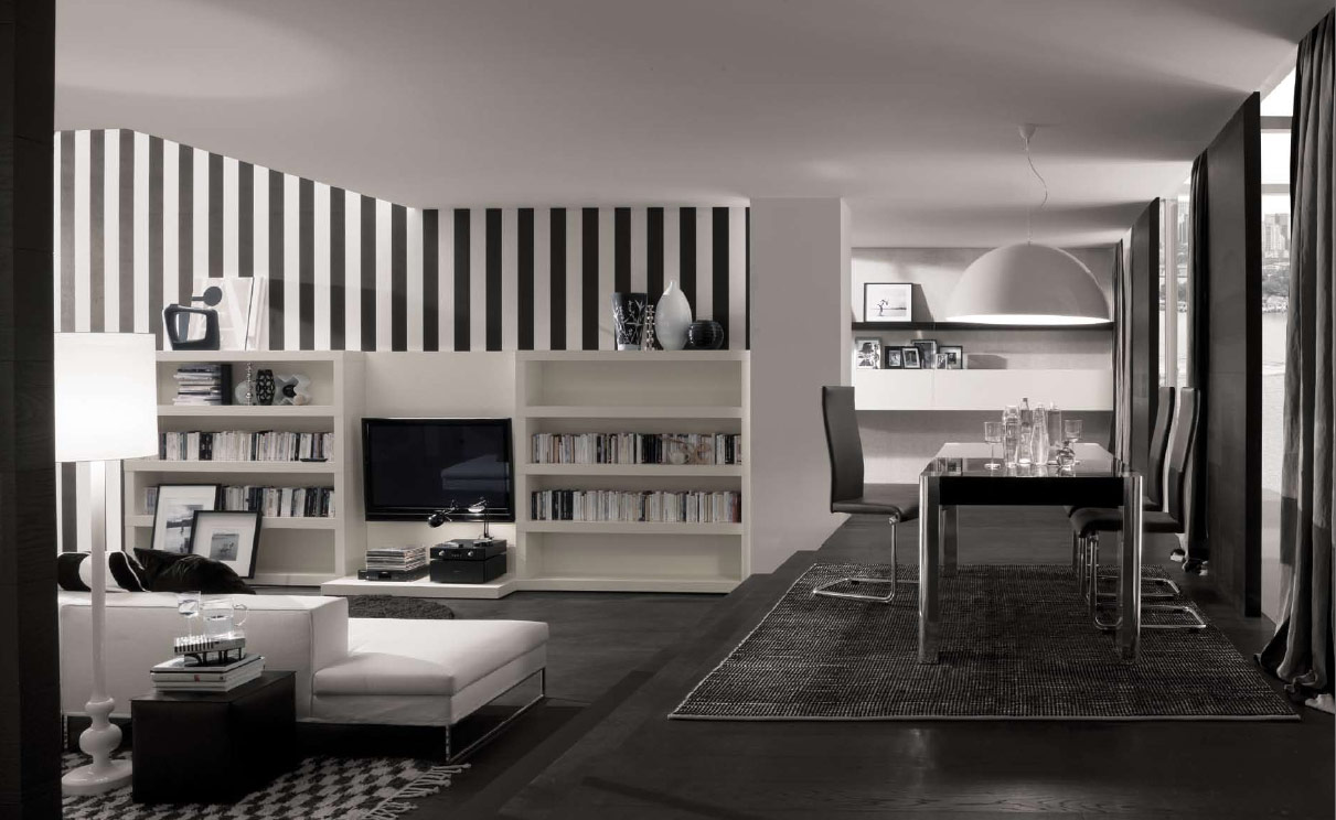 White Home How To Decorate In Black And White